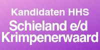 Kandidaten HHS Schieland en de Krimpenerwaard