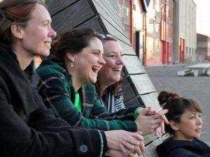 Anne Koning, Barbara Kathmann, Agnes Jongerius en Mei Li Vos